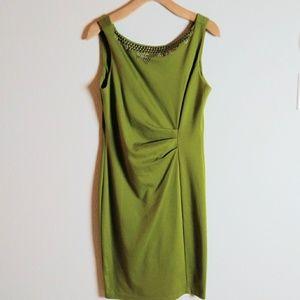 Jonathan Martin Avocado Green Dress SZ 10